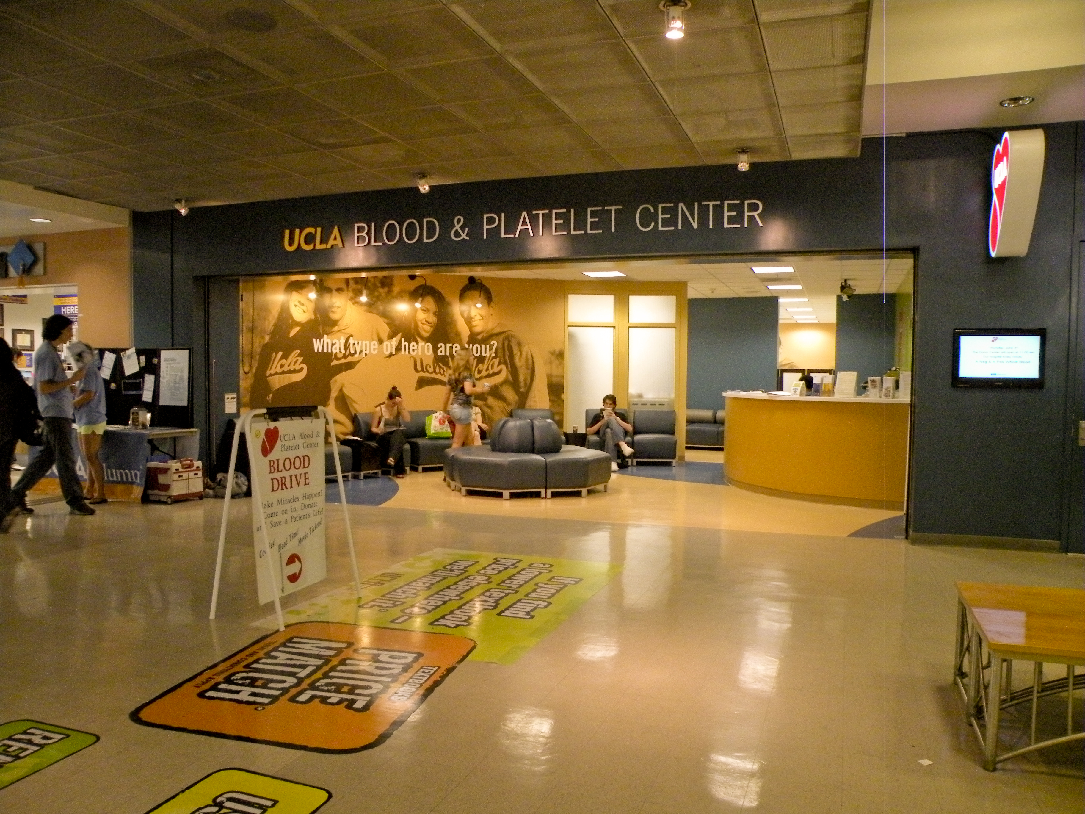UCLA Campus Map: Blood and Platelet Center, Ackerman Union
